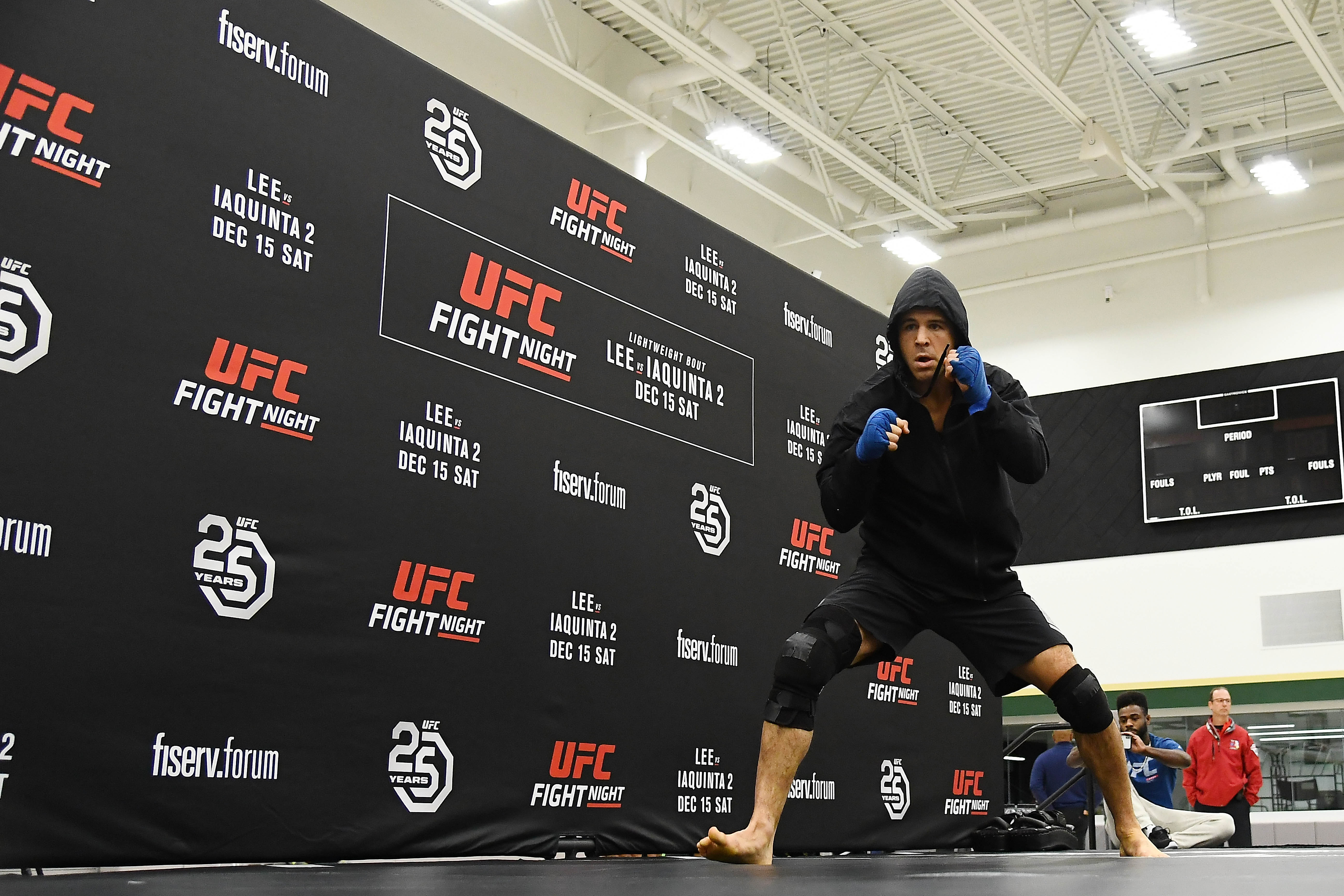 MILWAUKEE, WISCONSIN - DECEMBER 12: Al Iaquinta participates in open workouts on December 12, 2018 in Milwaukee, Wisconsin. (Photo by Stacy Revere/Zuffa LLC/Zuffa LLC)