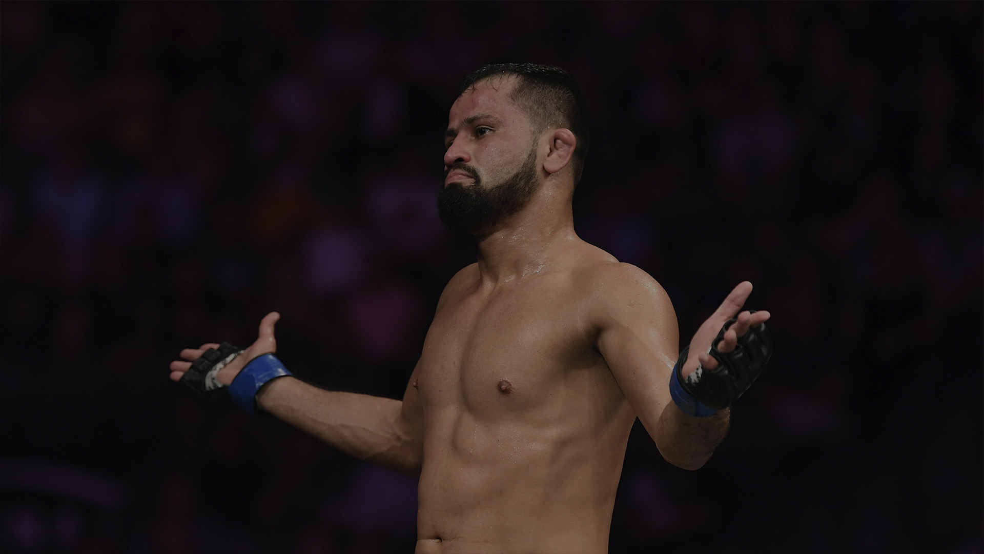 LAS VEGAS, NV - OCTOBER 06: Jussier Formiga of Brazil celebrates his win over Sergio Pettis in their flyweight bout during the UFC 229 event inside T-Mobile Arena on October 6, 2018 in Las Vegas, Nevada. (Photo by Josh Hedges/Zuffa LLC/Zuffa LLC)