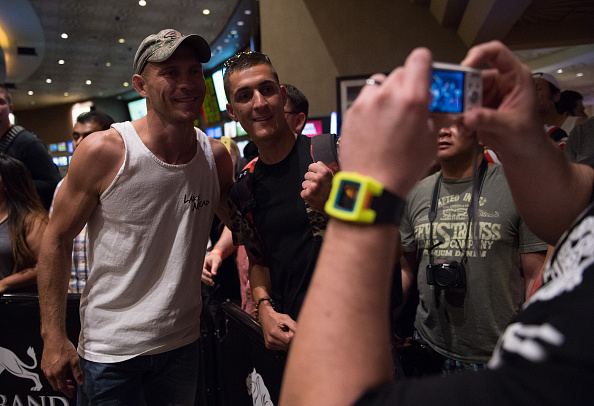 LAS VEGAS, NEVADA - MAY 20:   Donald Cerrone interacts with the fans at the MGM Grand Hotel/Casino on May 20, 2015 in Las Vegas Nevada. (Photo by Brandon Magnus/Zuffa LLC/Zuffa LLC via Getty Images)