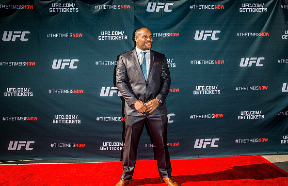 LAS VEGAS, NEVADA - NOVEMBER 17:  UFC light heavyweight Daniel Cormier arrives at the UFC Time Is Now press conference at The Smith Center for the Performing Arts on November 17, 2014 in Las Vegas, Nevada. (Photo by Elliott Howard/Zuffa LLC/Zuffa LLC via Getty Images)