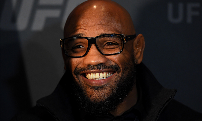 Yoel Romero of Cuba interacts with media during the UFC Ultimate Media Day at MGM Grand Hotel & Casino on December 9, 2015 in Las Vegas, Nevada. (Photo by Josh Hedges/Zuffa LLC)