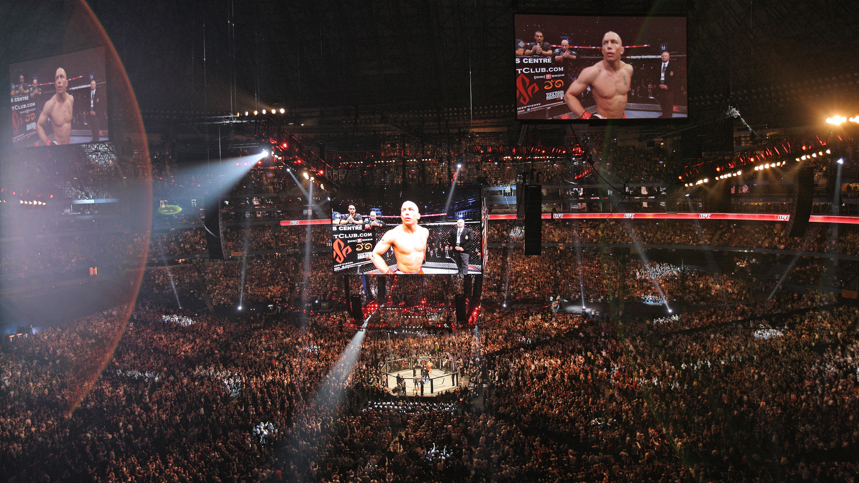 Fans came out in full force to Rogers Centre for GSP at UFC 129 (Photo by Tom Szczerbowski/Zuffa LLC/Zuffa LLC via Getty Images)