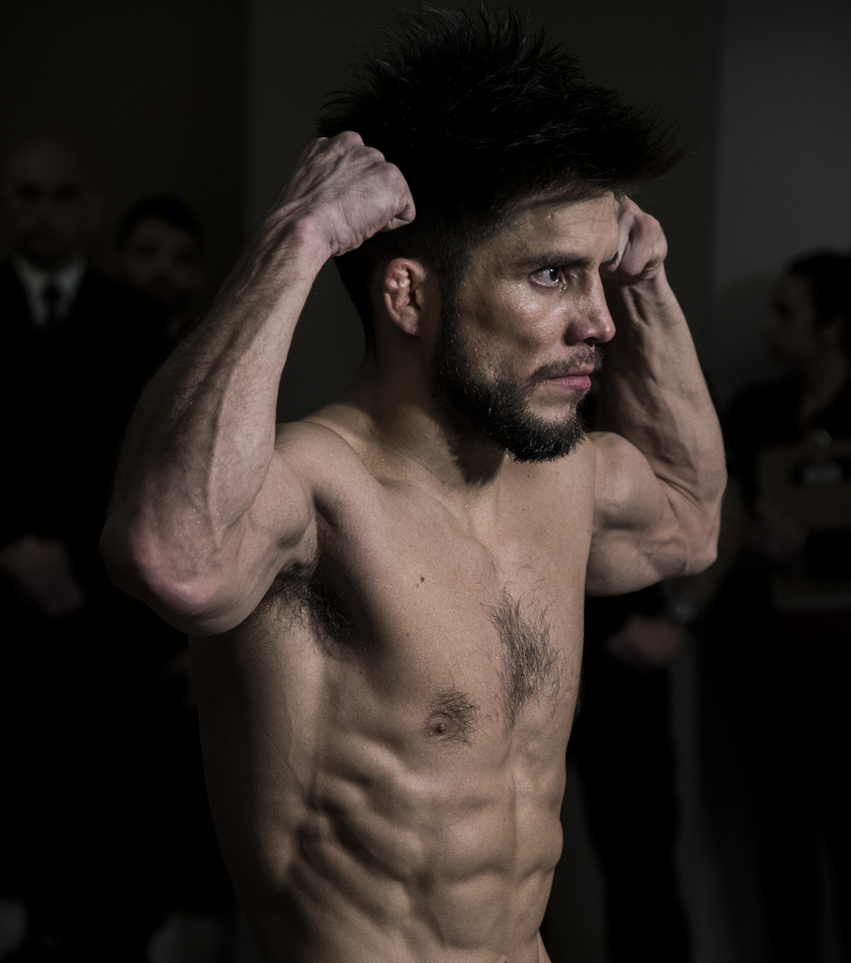 Henry Cejudo weighs in at the Official UFC brooklyn weigh ins