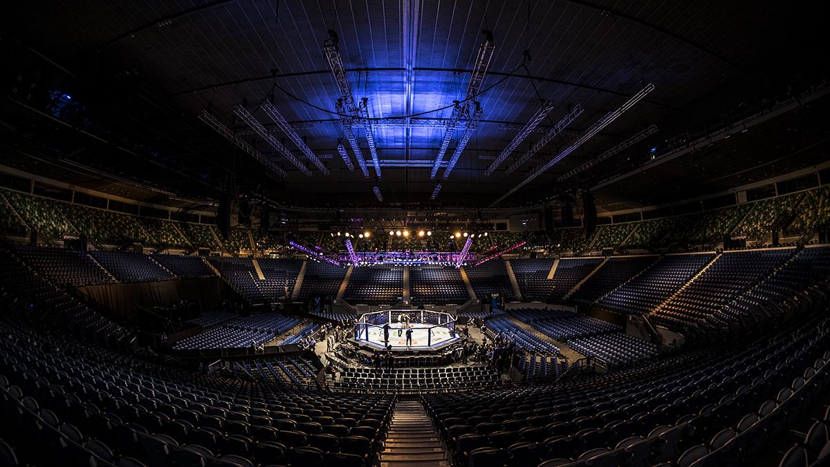 UFC 234 Adesanya vs Silva octagon