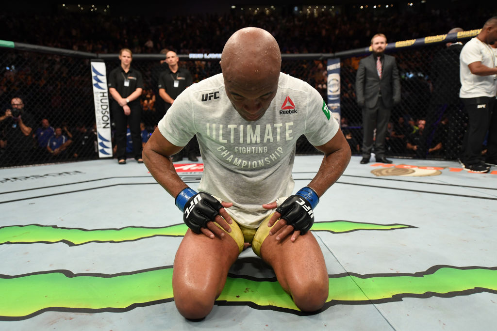 UFC 234 Anderson Silva after his fight with Israel Adesanya