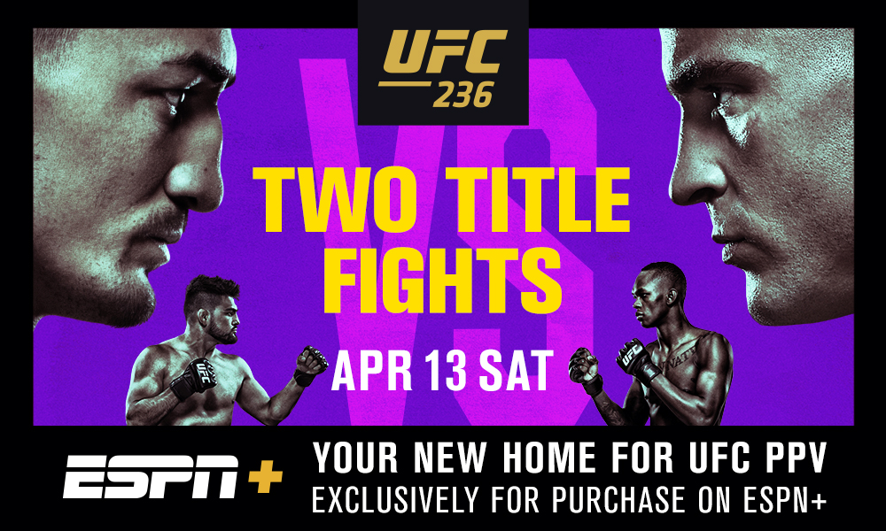 ESPN+ Becomes Exclusive Provider of UFC Pay-Per-View Events for U.S. Fans