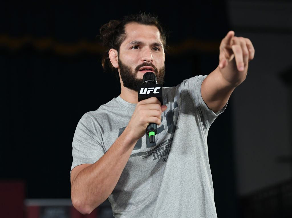 Jorge Masvidal performs an open workout for fans and media during the UFC Fight Night Open Workouts