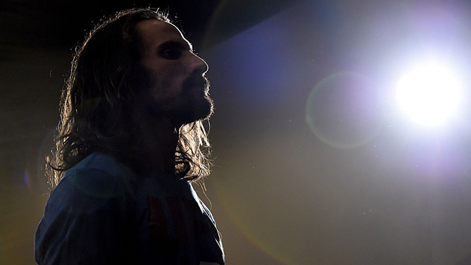 ORLANDO, FL - DEC. 18: Josh Samman waits backstage during the UFC weigh-in inside the Orange County Convention Center. (Photo by Jeff Bottari/Zuffa LLC)