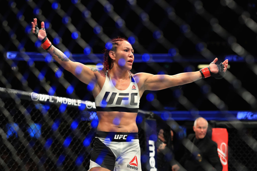 Cris Cyborg at UFC 214 on July 29, 2017 in Anaheim, CA. (Photo by Sean M. Haffey/Getty Images)