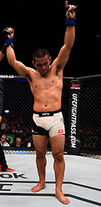 Soto celebrates his submission victory over <a href='../fighter/Chris-Beal'>Chris Beal</a> during the <a href='../event/UFC-Silva-vs-Irvin'>UFC Fight Night </a>on June 18, 2016 in Ottawa, Ontario, Canada. (Photo by Jeff Bottari/Zuffa LLC)