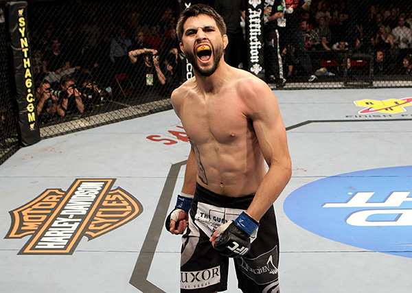 <a href='../fighter/Carlos-Condit'>Carlos Condit</a> (Photo by Josh Hedges/Zuffa LLC)