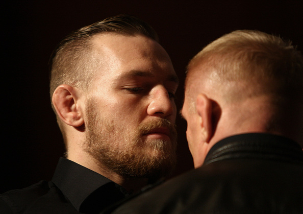 McGregor and Siver staredown in December.