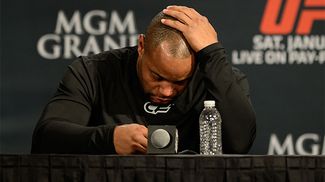 Daniel Cormier at the post-fight press conference