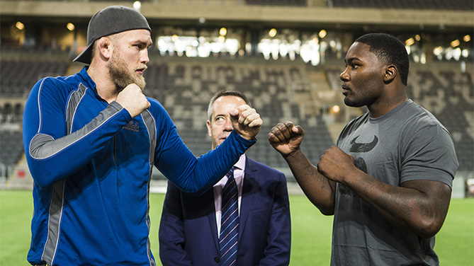 Gustafsson faces off with Johnson