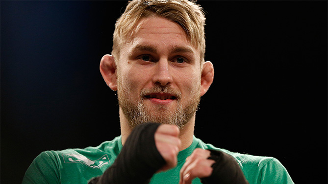 Gustafsson at open workouts