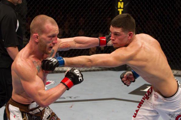 Maynard and Diaz trade blows