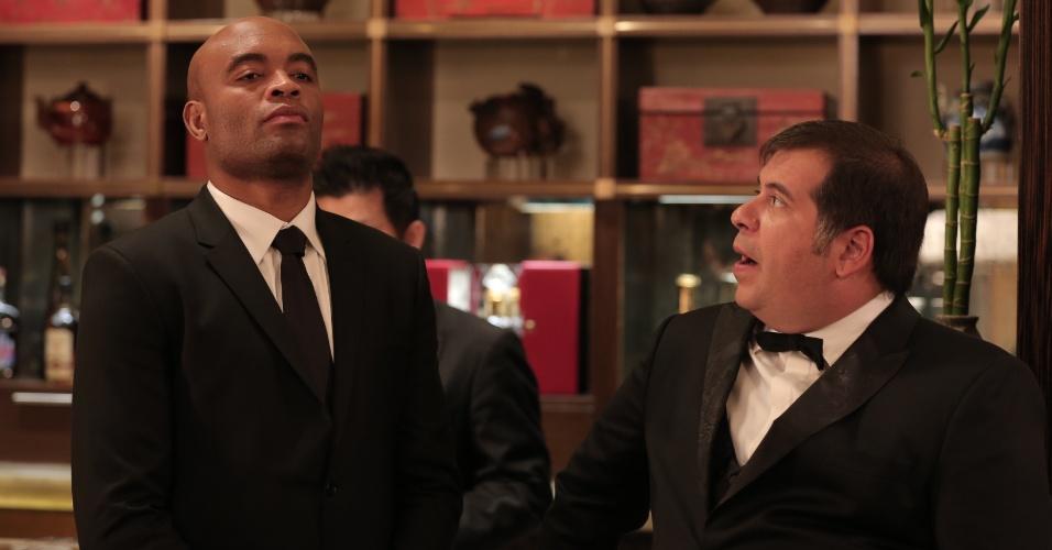 Silva as Andrew Silver in the movie Até que a Sorte nos Separe 2