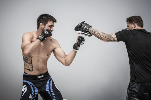 Carlos Condit and coach Brandon Gibson - photo Will Fox