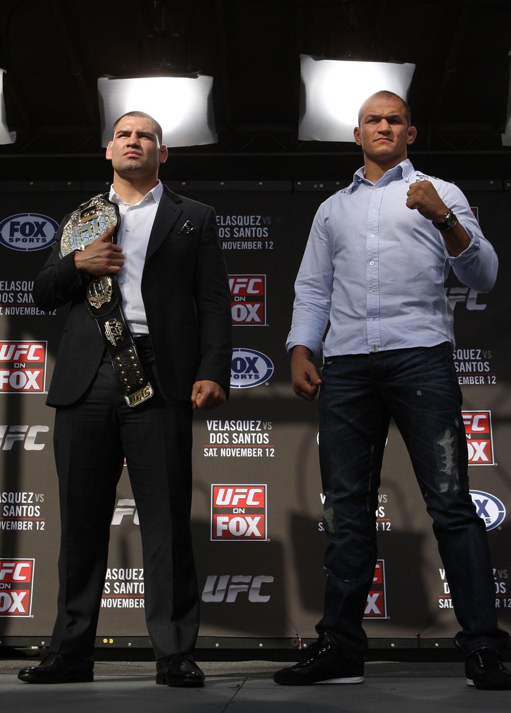 Cain Velasquez and Junior dos Santos