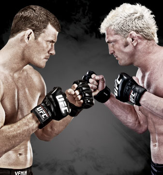"Michael Bisping and Jason ""Mayhem"" Miller"