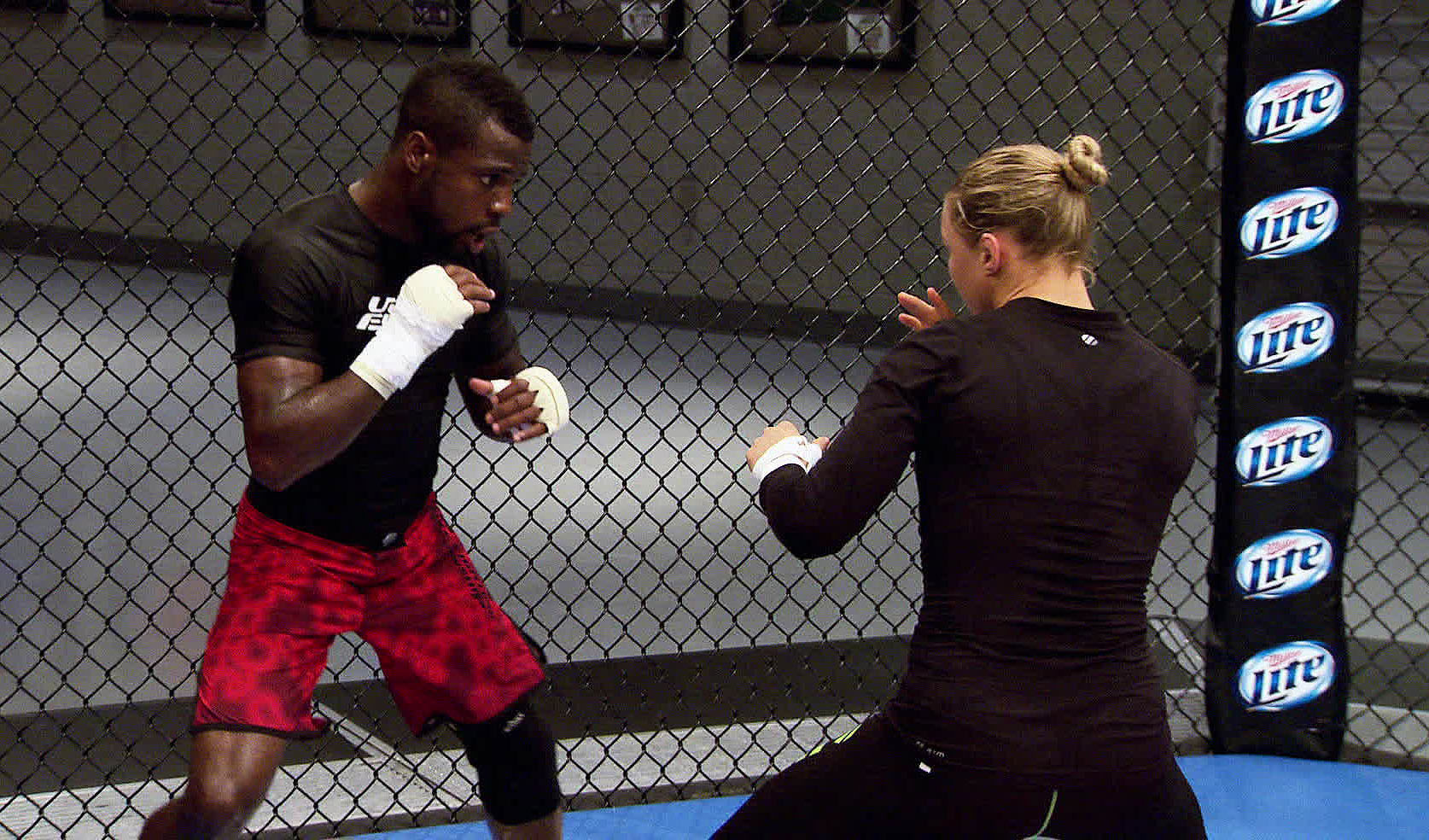 Beal trains with coach Rousey
