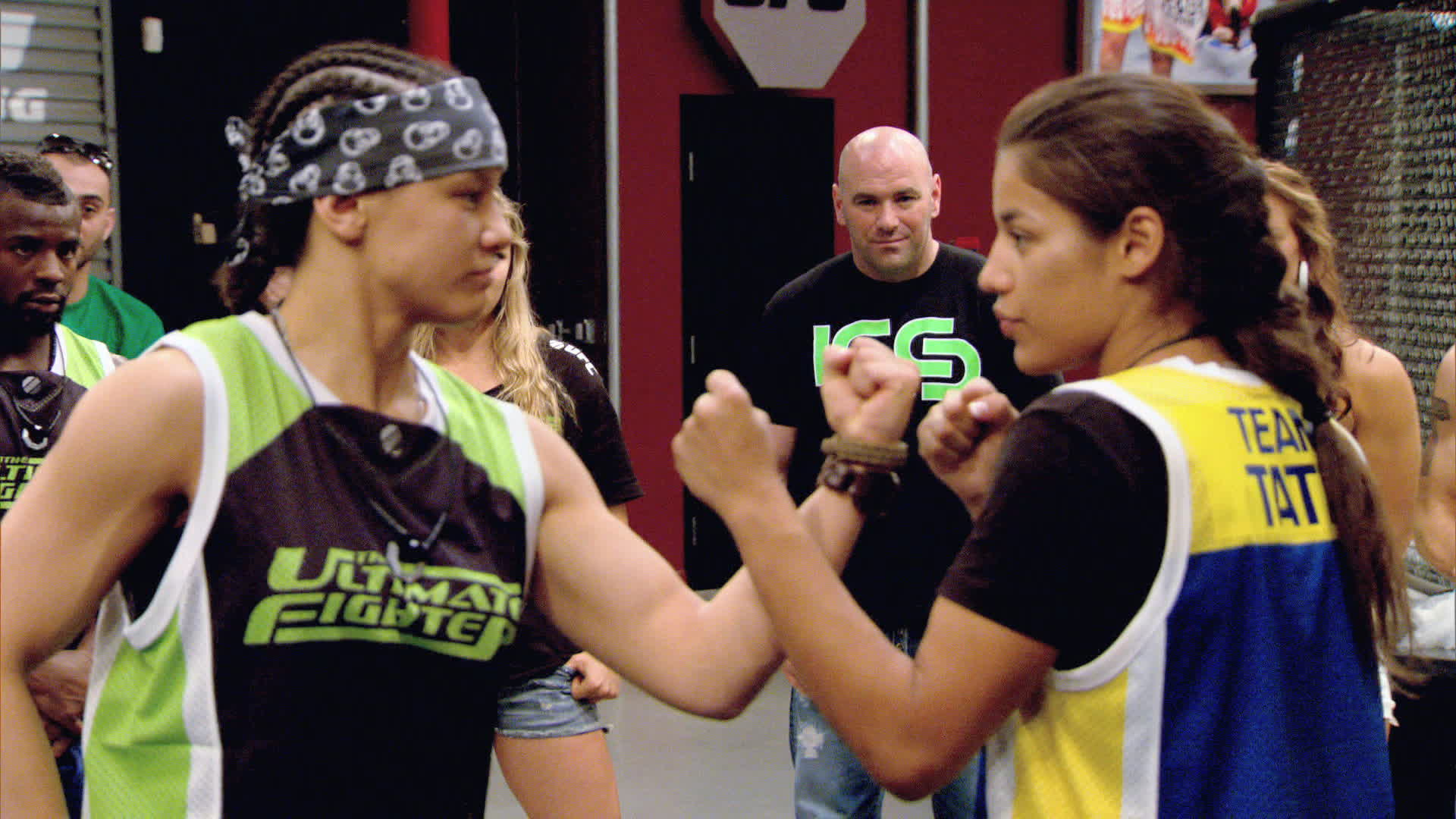 Baszler and Pena faceoff