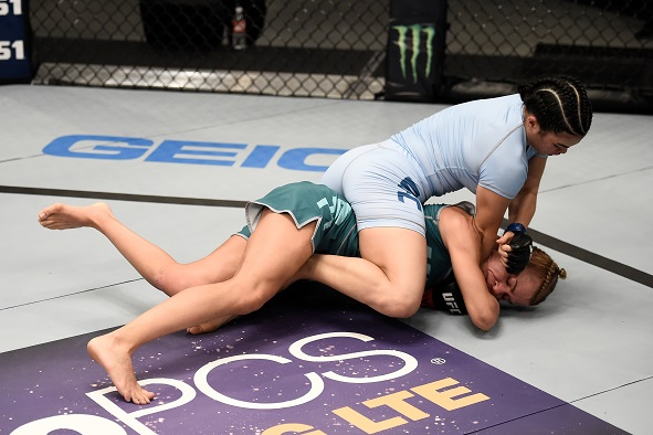 Ostovich-Berdon submits Melinda Fabian in Round 1 of their bout on The Ultimate Fighter