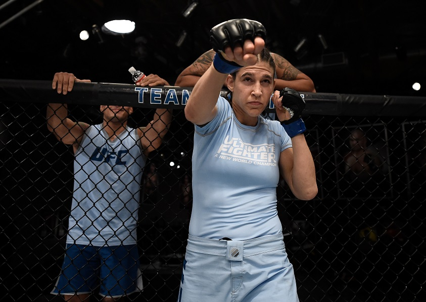 Roxanne Modafferi takes on Sijara Eubanks in the final semifinal bout of The Ultimate Fighter