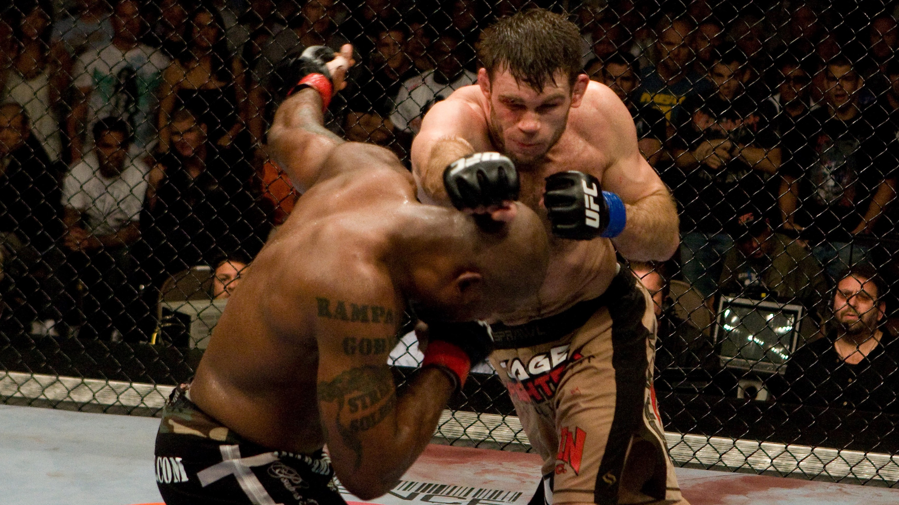 Griffin's crowning moment at UFC 86 when he defeated Rampage Jackson to become champion (Photo by: Josh Hedges/Zuffa LLC via Getty Images)