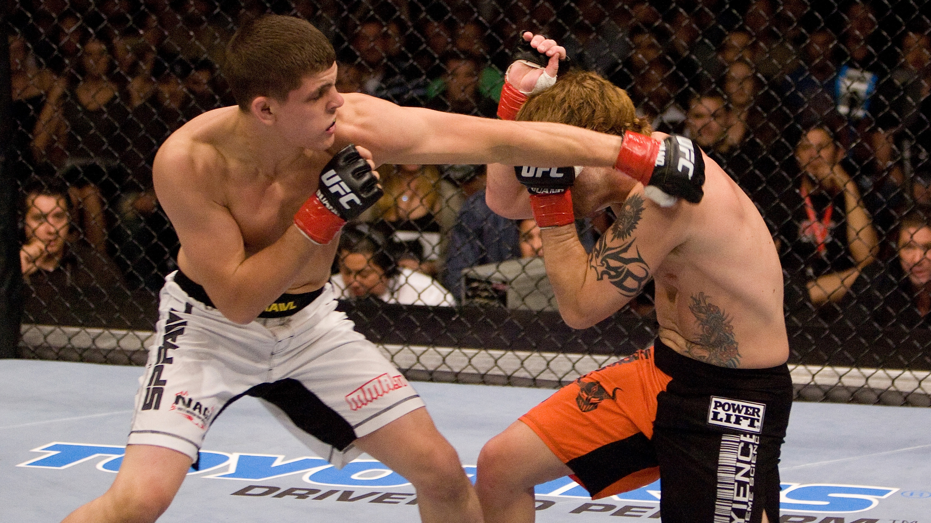 It took less than one minute for Lauzon to celebrate at UFC 63 (Photo by Josh Hedges/Zuffa LLC/Zuffa LLC via Getty Images)