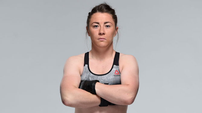 LIVERPOOL, ENGLAND - MAY 23: Molly McCann</a> of England poses for a portrait during a UFC photo session on May 23, 2018 in Liverpool, England. (Photo by Josh Hedges/Zuffa LLC/Zuffa LLC via Getty Images)