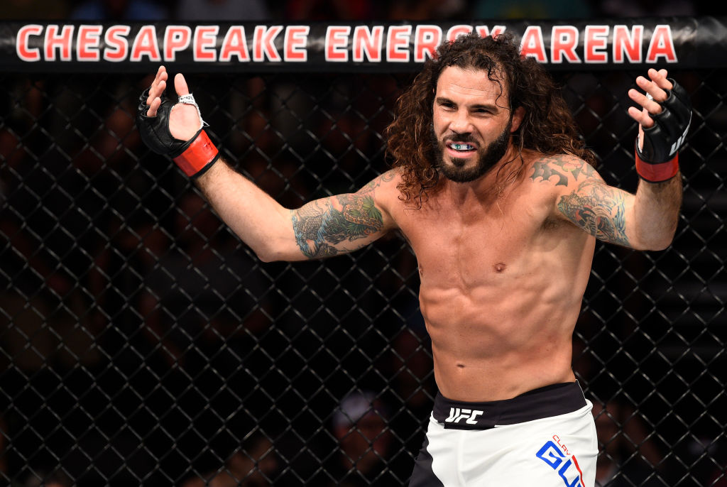 OKLAHOMA CITY, OK - JUNE 25: Clay Guida stands in the Octagon between rounds of his lightweight bout against Erik Koch during the UFC Fight Night event at the Chesapeake Energy Arena on June 25, 2017 in Oklahoma City, Oklahoma. (Photo by Brandon Magnus/Zuffa LLC)