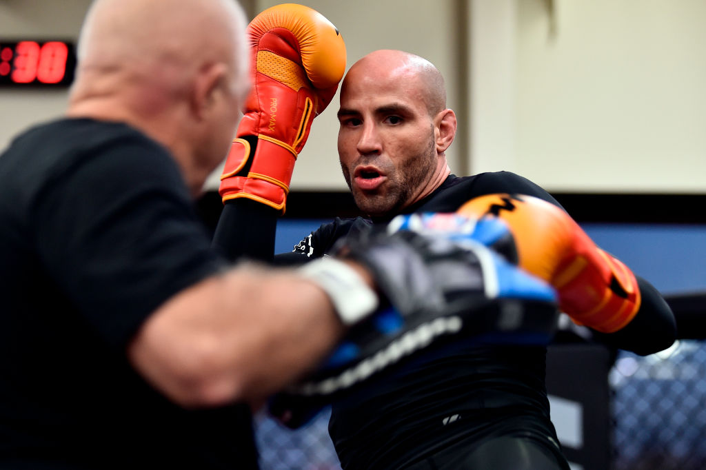 ORLANDO, FL - FEBRUARY 21:  Ben Saunders holds an open workout for fans and media at UFC GYM Orlando on February 21, 2018 in Orlando, Florida. (Photo by Jeff Bottari/Zuffa LLC)