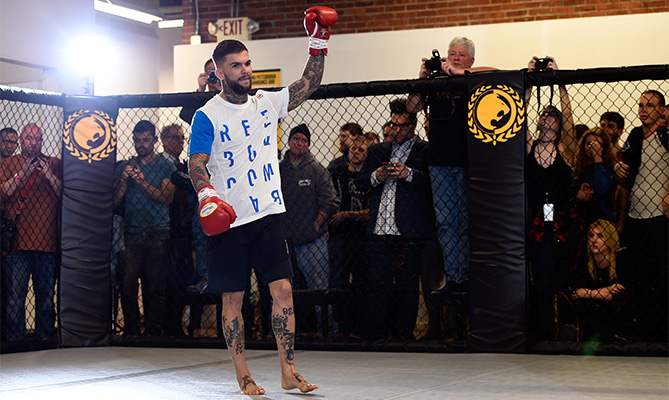 PITTSBURGH, PA - FEBRUARY 19:  Cody Garbrandt of the United States interacts with the fans and media at the Stout Training Pittsburgh gym on February 19, 2016 in Pittsburgh, Pennsylvania. (Photo by Jeff Bottari/Zuffa LLC)
