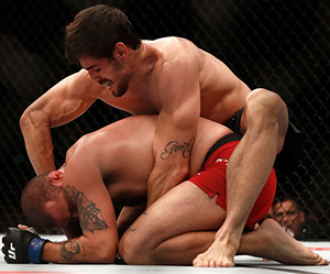 (R-L) Antonio Carlos Junior of Brazil punches <a href='../fighter/eric-spicely'><a href='../fighter/eric-spicely'>Eric Spicely</a></a> in their middleweight bout during the UFC 212 event at Jeunesse Arena on June 3, 2017 in Rio de Janeiro, Brazil. (Photo by Buda Mendes/Zuffa LLC)