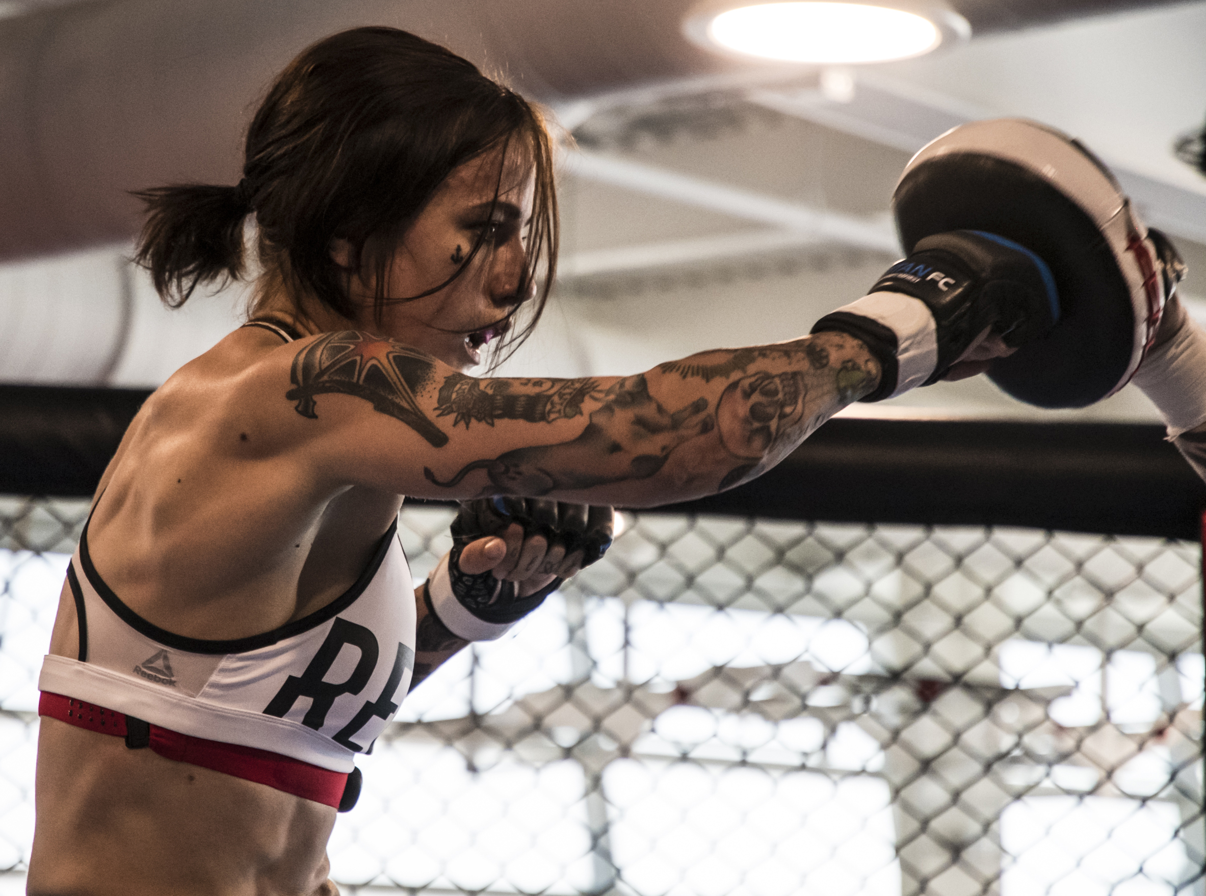 Clark at the UFC Perfomance Institute preparing for her fight at UFC Singapore on June 23. (Photo by Juan Cardenas/Zuffa LLC)
