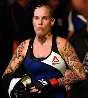 Bec Rawlings of Australia walks into the arena before facing Seohee Ham of South Korea in their women's strawweight bout during the UFC Fight Night event at the Brisbane Entertainment Centre on March 20, 2016 in Brisbane, Australia. (Photo by Josh Hedges/Zuffa LLC)