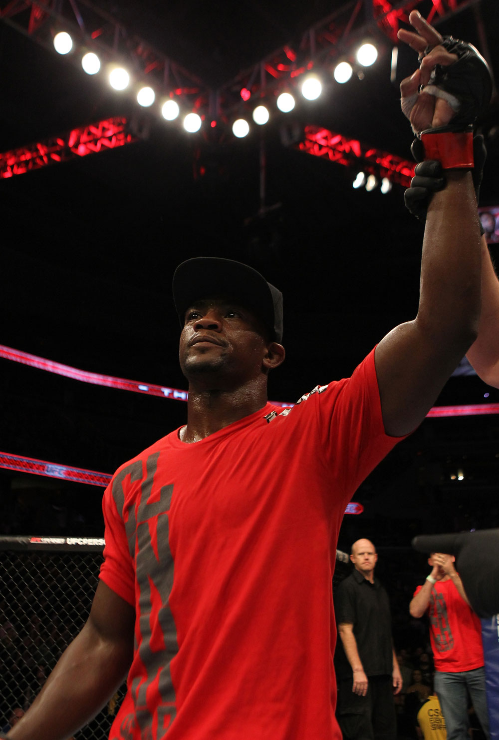 Yves Edwards gets his hand raised