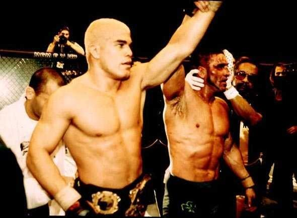 Tito Ortiz and Ken Shamrock after UFC 40