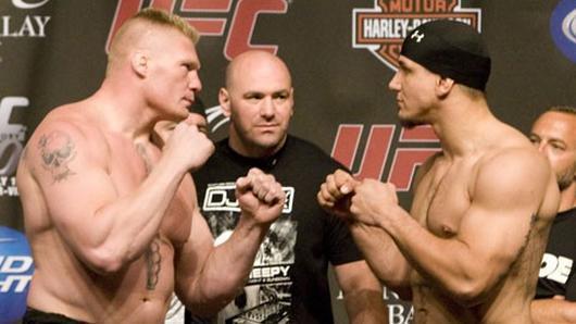 Lesnar vs Mir en UFC 100