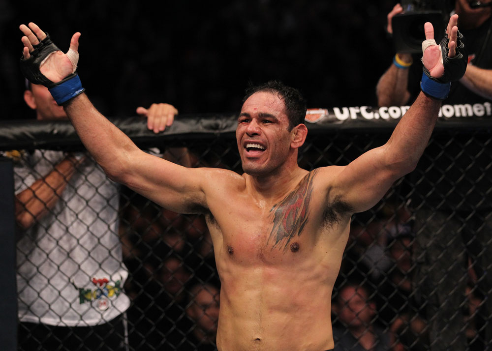 Rogerio Nogueira celebrates UFC 140 win over Tito Ortiz