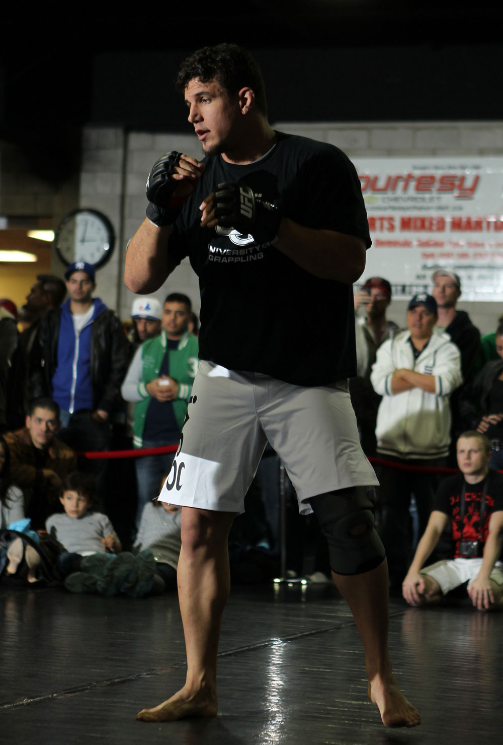Frank Mir works out for the fans and media during the UFC 140 Open Workouts at the Xtreme Couture Gym on December 7, 2011 in Toronto, ON. (Photo by Josh Hedges/Zuffa LLC)