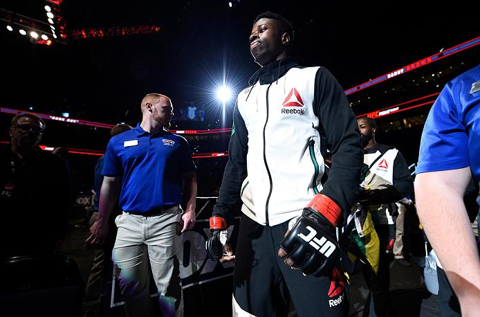 <a href='../fighter/Randy-Brown'>Randy Brown</a> prepares to enter the Octagon before his fight against <a href='../fighter/michael-graves'>Michael Graves</a> at Fight Night Tampa