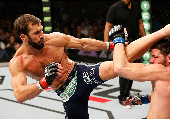 Luke Rockhold (left) vs. Michael Bisping