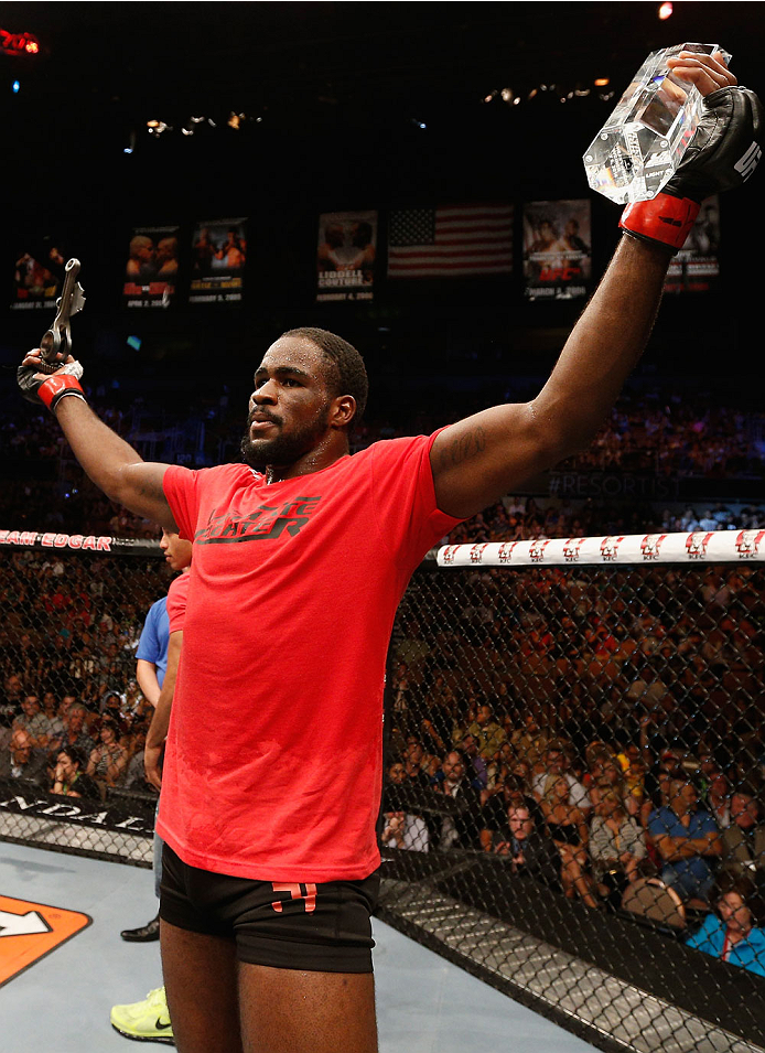Ultimate Fighter champion Corey Anderson celebrates