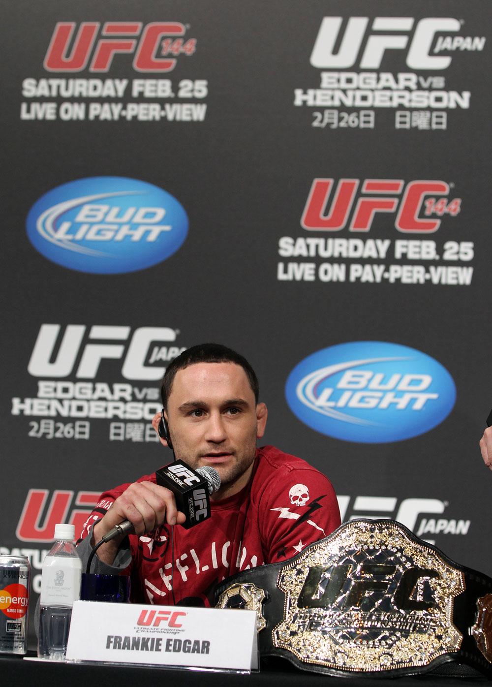 UFC lightweight champion Frankie Edgar