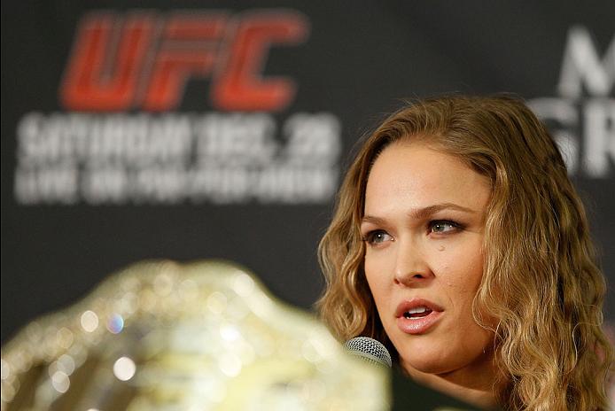 UFC women's bantamweight champion Ronda Rousey