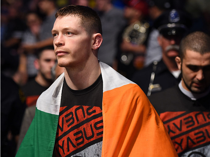 Joseph Duffy walks to the octagon during UFC 185 at the American Airlines Center on March 14, 2015 in Dallas, Texas. (Photo by Cooper Neill/Zuffa LLC)