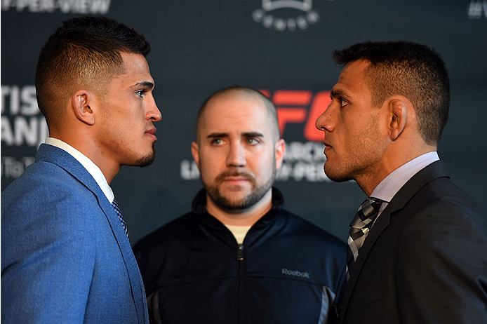Pettis and dos Anjos face off at Ultimate Media Day