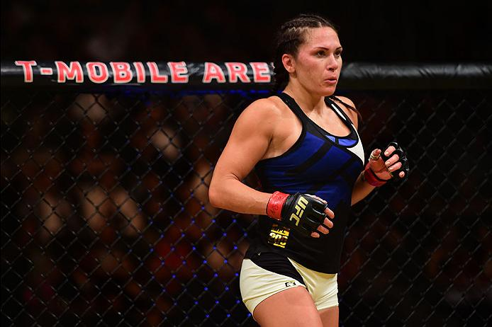 LAS VEGAS, NV - JULY 09: Cat Zingano prepares to face Julianna Pena in their women's bantamweight bout during the UFC 200 event on July 9, 2016 at T-Mobile Arena in Las Vegas, Nevada. (Photo by Harry How/Zuffa LLC/Zuffa LLC via Getty Images)